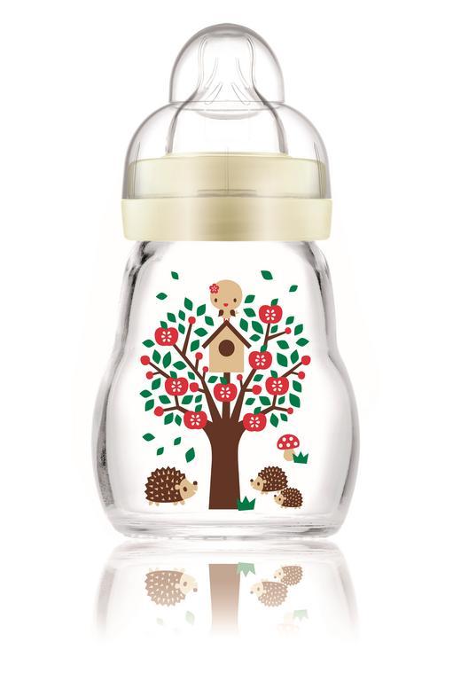 MAM fľaša sklenená malá 1×1 ks, sklenená detská fľaša