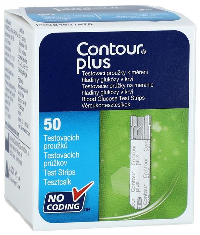 Contour Plus testovacie prúžky 1x50 ks